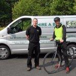 Guy Hiring A Bike To Tim Farron MP