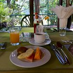 Breakfast at the outdoor restaurant (don't forget mozzie repellent)