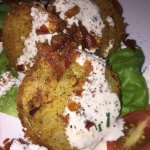 Fried green tomato salad -- MUST TRY!!