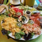 """""""L'assiette santé"""" du thé gourmand ; après le régal des yeux, c'est le plaisir du palais !"""