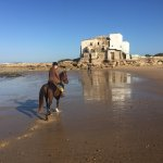 At the end of a long canter down the beach, everyone is happy & relaxed!