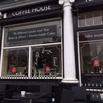 front of the Really Rather Good Coffee House, Bury St Edmunds