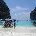 Maya Beach, beautiful but crowded