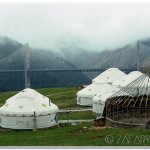 Kazakh yurts along Old road