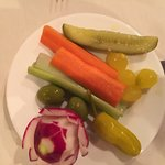 Complimentary veggie plate