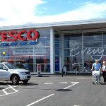 Store Front of Tesco in Taunton