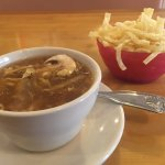 Hot and sour soup is really good here.