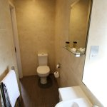 Small shower room in standard double room
