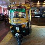 Salad bar in a rickshaw