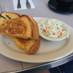 Grilled Cheese and Coleslaw