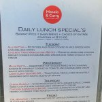 Daily lunch specials (May 2017)