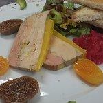 Foie gras mi-cuit du chef (originaire du sud ouest!)