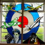 Stained glass at Scampton