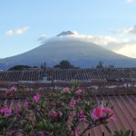 Volcán del Agua desde la terraza