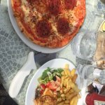 Diavola pizza & fish and chips
