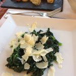 Side Dish of Spinach with Parmesan
