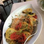 Wild Snapper with Potatoes au Gratin