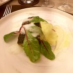 #4 Barramundi, parsnip puree and red chard
