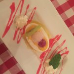 New dessert - Mango sorbet with coconut ice-cream - absolutely delicious