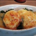 eggs bennie with spinach...