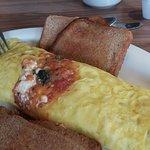 veggie omelet...