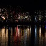 Vesak - the lake reflecting the amazing lights