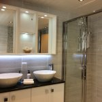 Luxury four poster brand new en suite, his and hers basins, waterfall taps, mood lighting etc.