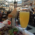 It really could be St Marks Square. Here a Mimosa and a dish of olives started the meal.