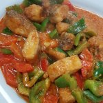 Delicious Shoo-Shee Curry with fish at Tasty Sheboygan Thai