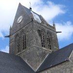 Spire at Sainte Mere Eglise