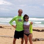 Это русский инструктор на пляже Макао. Спасибо ему, что поставил на доску!