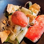 Cucumber-and-tomato sorbet salad