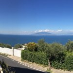 Panoramic view of Sorrento and Naples bay from hotel terrace