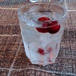 Reindeer's Tear cocktail is a Finnish distilled spirit (like vodka) and served w/ frozen cranber