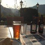 Enjoying the sunset on the terrace