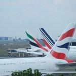 A380 BA, AF, EK
