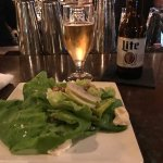 House salad with pears, candied walnuts and creamy goat cheese was delicious, shrimp appetizer a