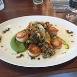 Scallops and Brussels Sprout Tabbouleh