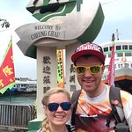 Welcome to Cheung Chau, with the Ferry in the Background!