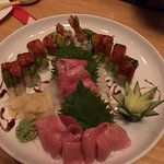 Sushimi and fatty tuna platter