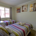 Twin apartment two bedroom apartments with Queensize bed and two singles beds