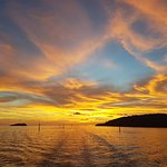 Kota Kinabalu sunset from cruise boat