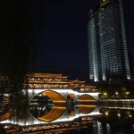 The Shangri la hotel in Chengdu, next to the Marco Polo bridge over the brocade river is one of