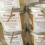 Local beezwax candles