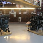 Exhibit showing two engines in the lower ground floor hall