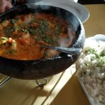 Moqueca de peixe com camarao (Whitefish Alaskan Cod & Shrimp) Too much for 2 ppl.  Delicious!