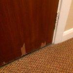 Door - missing veneer