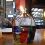 Beachfront Bistro table candle