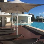 View of the Sofitel and pool area