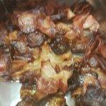 Burnt bacon for breakfast